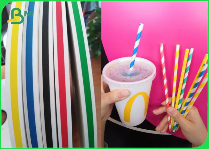 60gsm Blue Red Stripped Paper Drinking Straw Base Paper for Smoothie