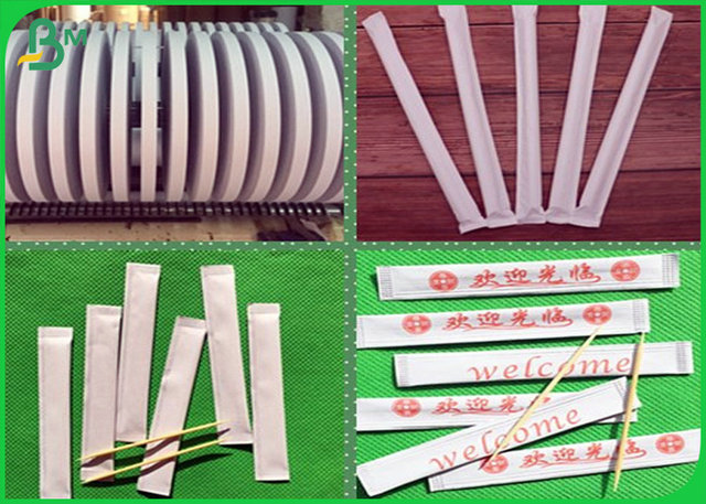 Foodgrade 28mm 29mm straw wrapping paper roll for toothpick or paper straw